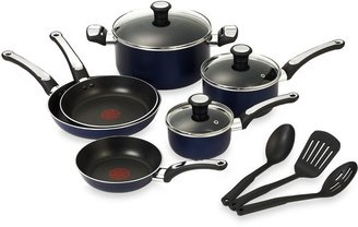 T-Fal Total Non-stick 12-Piece Cookware Set in Blue