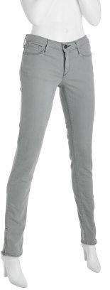 Earnest Sewn light grey stretch 'Harlan' skinny zip jeans