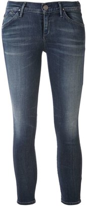 Gold Sign 'Glam' crop skinny jeans