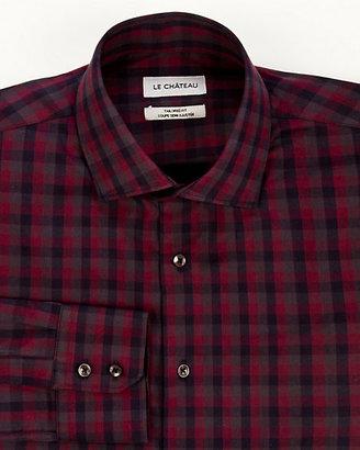 Le Château Check Print Tailored Fit Shirt