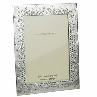 Lancaster and Gibbings 'Floating Hearts' Pewter Photo Frame, 5 x 7 (13 x 18cm)