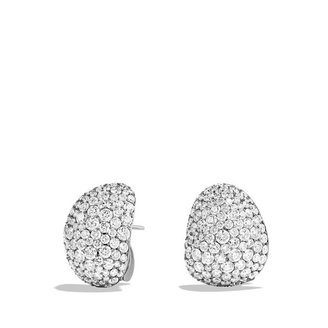 David Yurman Pavé; Earrings with Diamonds in White Gold