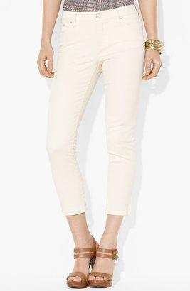 Lauren Ralph Lauren Modern Straight Leg Crop Jeans (Petite) Natural 12P