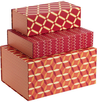 Container Store Red Allure Box Collection
