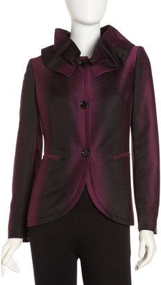 Lafayette 148 New York Wesley Removable-Collar Jacket