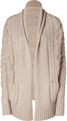 Vince Natural Cocoon Cable Knit Cardigan