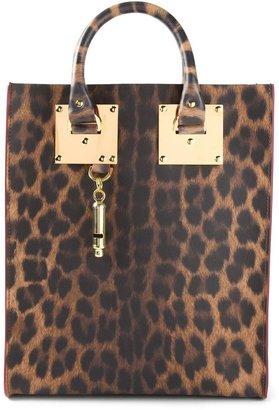 Sophie Hulme mini leopard print tote