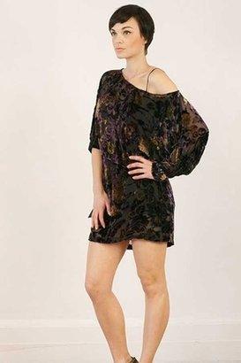 Winter Kate Ophelia Velvet Dress in Purple $391 thestylecure.com