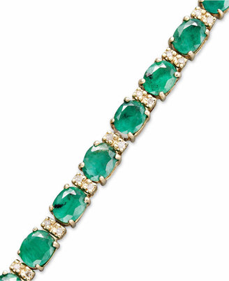 Effy Brasilica by Emerald (9-1/3 ct. t.w.) and Diamond (1/4 ct. t.w.) Tennis Bracelet in 14k Gold