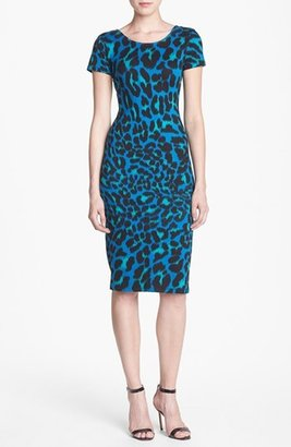 WAYF Leopard Spot Body-Con Dress