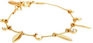 Pilgrim Gold Crystal and Charm Drop Bracelet