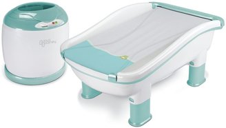 Bed Bath & Beyond Baby's Journey Comfy Cozy Tub & Towel Warmer in Frog & Lily Pad