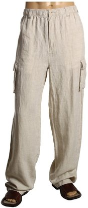 Tommy Bahama Big Tall Linen On The Edge Pant (Natural) - Apparel
