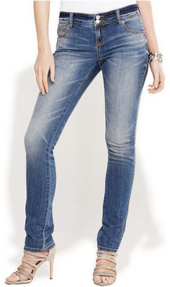 INC International Concepts Petite Jeans, Skinny Girlfriend, Monday Wash