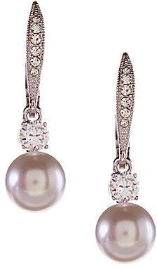 Nadri Faux-Pearl Drop Earrings