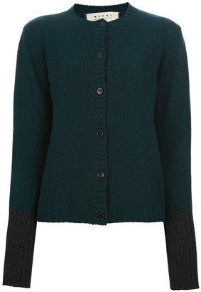 Marni Edition contrast cuff cardigan