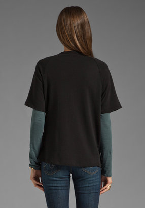 James Perse Short Sleeve Dolman Sweatshirt