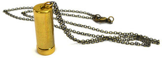 City Owl 1970s Canister Necklace
