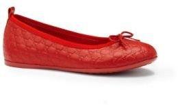 Gucci Kid's Microguccisma Leather Ballet Flats