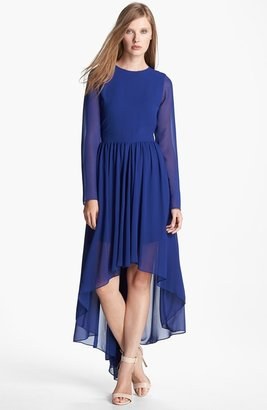 Nordstrom FELICITY & COCO Chiffon High/Low Dress Exclusive)