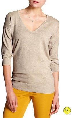 Banana Republic Factory 3/4-Sleeve Deep Vee Sweater