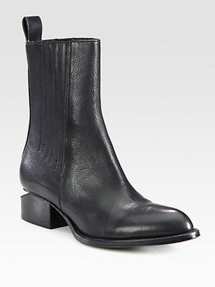 Alexander Wang Chelsea Leather Ankle Boots