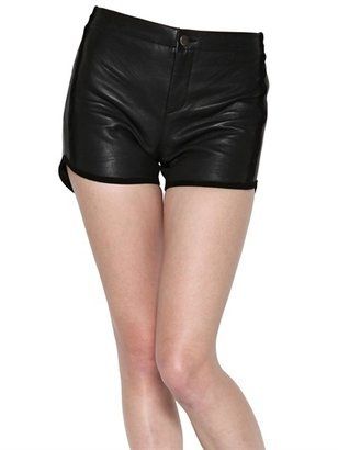 American Retro Suede Pocket Leather Shorts