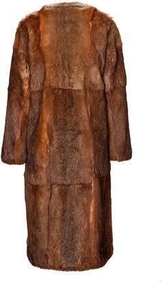 MSGM Rabbit Fur Coat