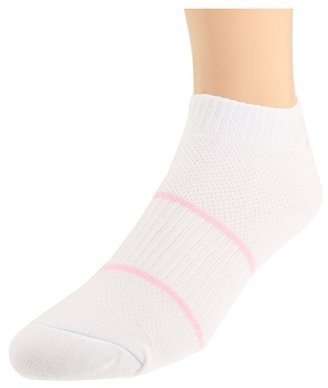 Wrightsock Double Layer DLX Lo 3-Pair Pack (White/Pink) - Footwear