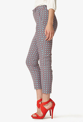 Forever 21 Essential Geo Print Ankle Pants