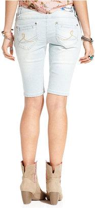 Joujou Jou Jou Juniors Shorts, Striped Denim Bermuda