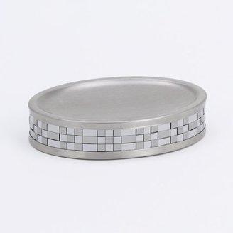 Avanti Linens Basketweave Soap Dish, Silver