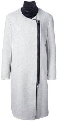 3.1 Phillip Lim asymmetric funnel neck coat