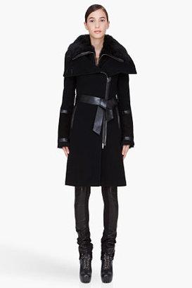 Mackage Black Shearling Trim Isabel-B Coat