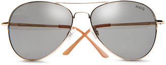 MANGO Aviator style sunglasses