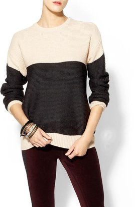 Juicy Couture Ash Rain + Oak Rosa Colorblock Sweater