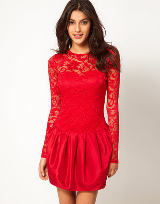 Asos Party Dress with Lace Top