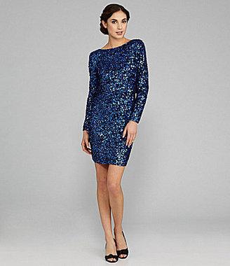 JS Boutique Long-Sleeve Sequin Dress
