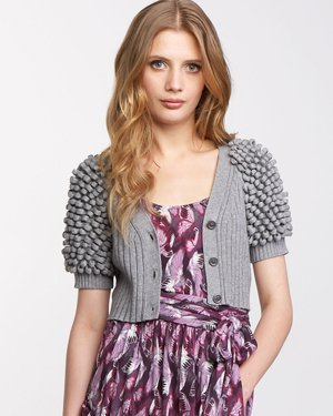 Juicy Couture Looped-Sleeve Cardigan