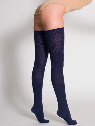 American Apparel Cotton Solid Thigh-High Socks