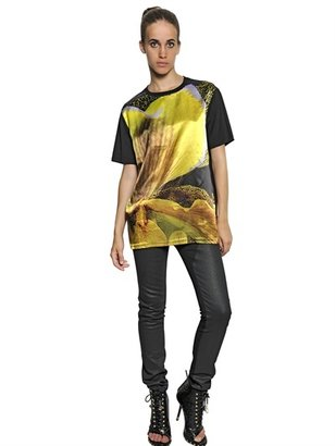 Givenchy Printed Satin And Cotton Jersey T-Shirt