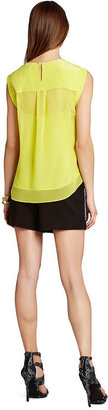 BCBGMAXAZRIA Top, Sleeveless High-Neck Keyhole Tank