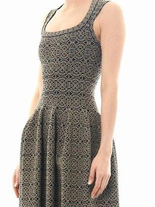 Azzedine Alaia Gaia arabesque scoop-neck dress