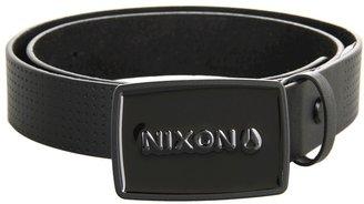 Nixon Enamel Wordmark Belt (Black Pin Dot) - Apparel