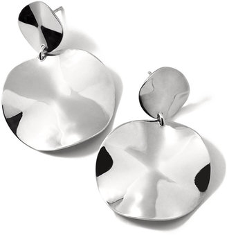 Ippolita Small Wavy Disc Modern Snowman Earrings