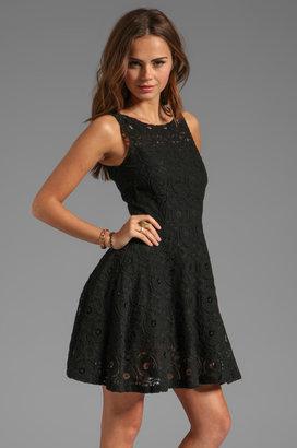 BB Dakota Renley Sleeveless Lace Circle Skirt Dress