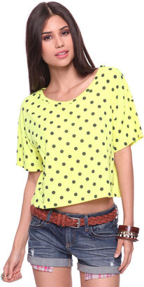 Forever 21 Cropped Polka Dot Top