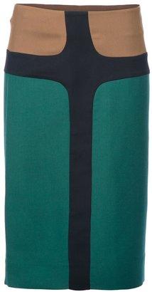 Marni colour block skirt