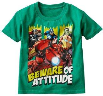 "Iron Man The avengers ""beware of attitude"" tee - boys 4-7"