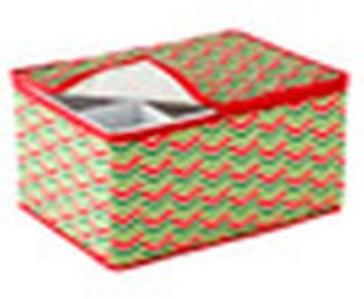 Container Store Holiday Stemware Chest Chevron